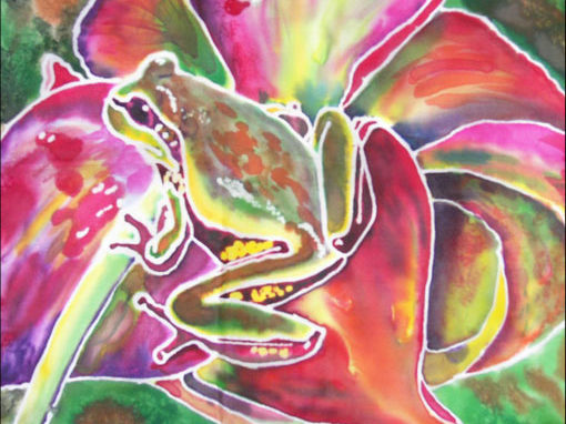 Frog on Silk