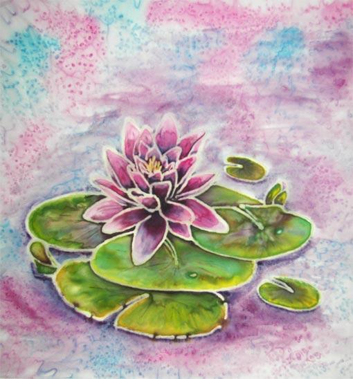 Waterlily on Silk